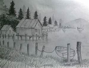 Pencil Landscape by sonuhela706 on DeviantArt
