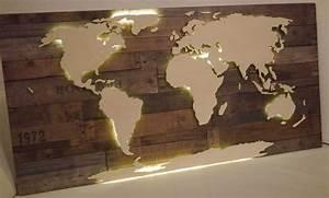 Weltkarte Bild Holz : beleuchtete 3d weltkarte aus holz vintage look von merk ~ Lateststills.com Haus und Dekorationen