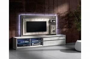 Meuble Tv Haut De Gamme Design : meuble tv design avec enceintes int gr es cbc meubles ~ Teatrodelosmanantiales.com Idées de Décoration