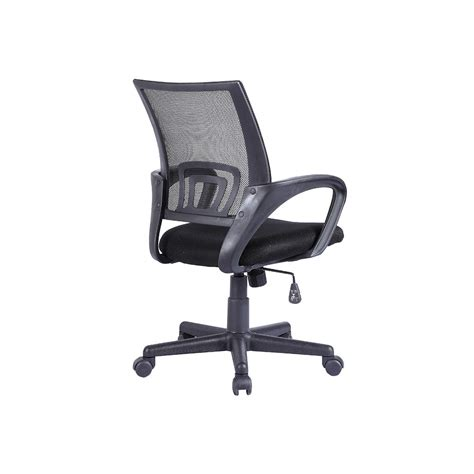 ergonomic mid back executive swivel black mesh office