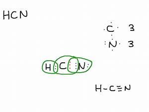 Electron Dot Diagram Hcn