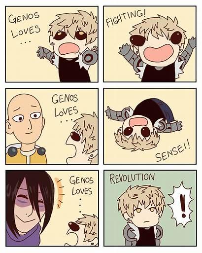 Genos Revolution Saitama Punch Deviantart Anime Memes