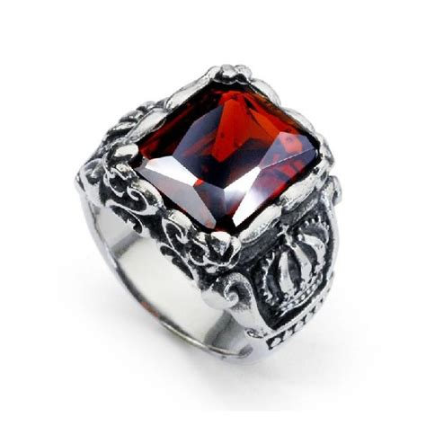 ruby ring titanium steel band for evermarker
