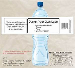 Diy make your own water bottle label custom water for How to print your own labels