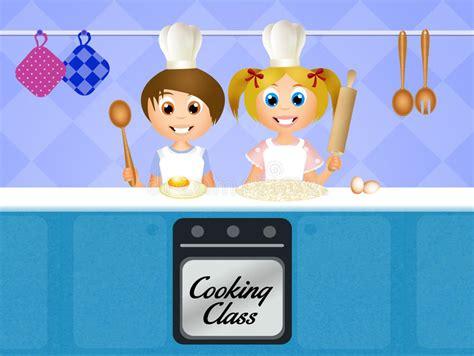 cours de cuisine pour enfants cours de cuisine pour des enfants illustration stock
