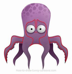 Drawing an octopus cartoon