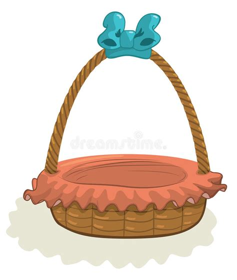 148 empty easter basket stock illustrations and clipart. Empty Basket With Blue Ribbon Royalty Free Stock Photo ...