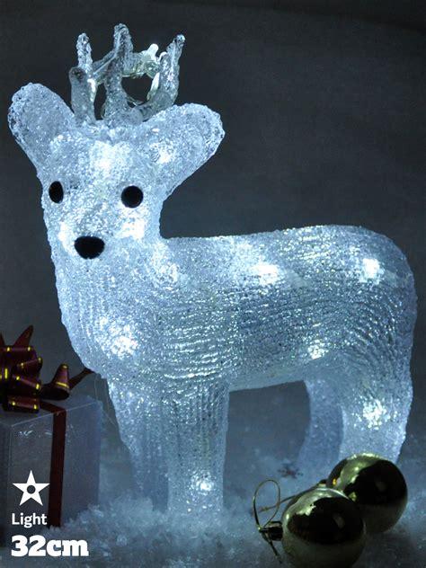 light  reindeer acrylic crystal effect christmas