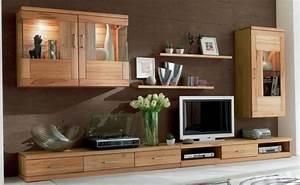Wohnwand Wohnzimmer TV Lowboard Wandboard Vitrine Schrank