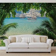 Tropical Beach Wall Mural