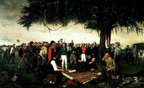 General Santa Ana surrenders to Sam Houston following the ...