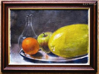 Still Painting Glazing Acrylic Study Melon Plrang