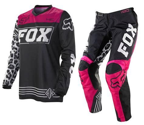 fox womens motocross fox mx 2014 hc women 39 s motocross black pink gear set
