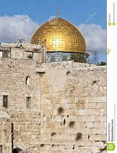 Western Wall And Dome Of The Rock Royalty Free Stock ...