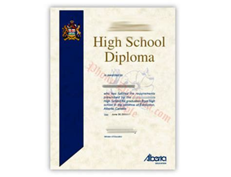ontario high school diploma template 7 best images of