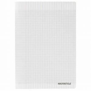 cahier piqures grand carreaux polypropylene 24x32 96p 90g With cahier grand carreaux