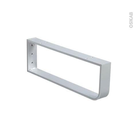 console porte serviettes murale gris aluminium l45 x h15 cm hakeo oskab