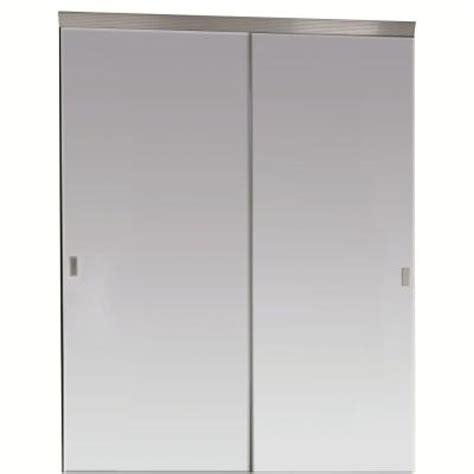 Beveled Mirror Closet Doors impact plus 60 in x 80 in beveled edge mirror solid