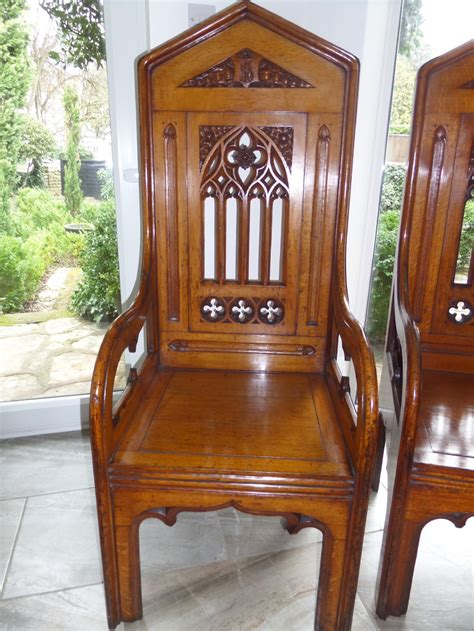 large 19th century carved oak throne bishops church