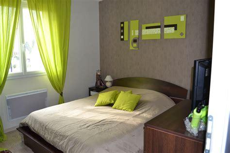 chambre h es déco chambre vert et taupe