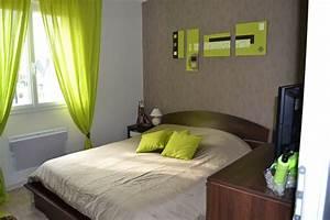 deco chambre adulte wenge With couleur peinture mur 3 chambre orangevert