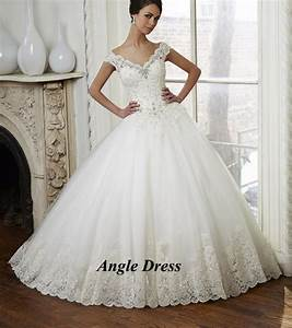 latest design white lace ball gown wedding dresses v neck With latest wedding dresses