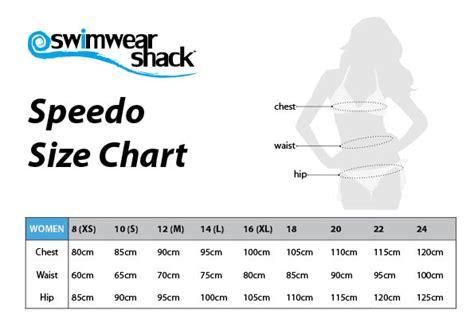 speedo swimwear size chart swimwear shack