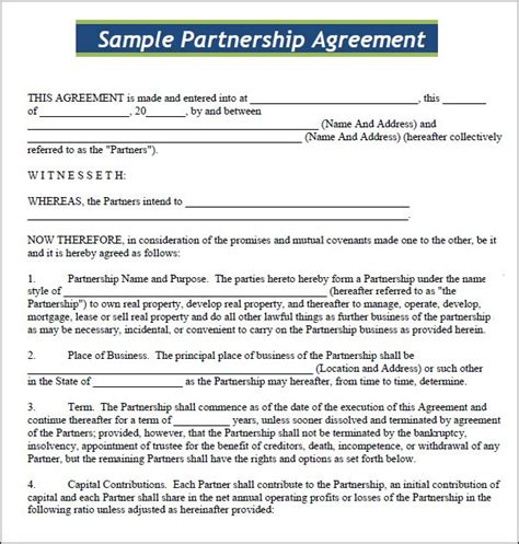 Free Contract Templates For Small Business by Small Business Agreement Template Adktrigirl