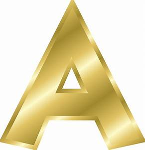Big image png for Gold alphabet letters
