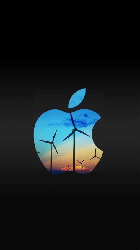 Apple Iphone Free Wallpaper Iphone by Wind Turbine Apple Logo Free Iphone 6 Wallpapers