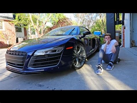 audi r8 tanner braungardt my new car audi r8 16 years old youtube