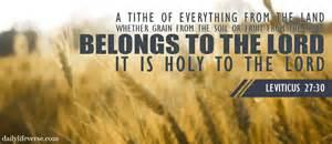 leviticus 27 30 daily verse