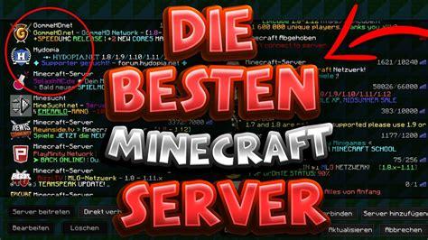 die besten minecraft server top  youtube