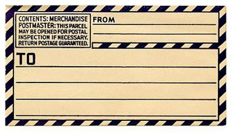 vintage clip art  gummed parcel post label