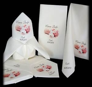 Servietten Bedrucken Hochzeit : dekoration bedruckte servietten geburt taufe kommunion foto ein designerst ck von ines shop ~ Watch28wear.com Haus und Dekorationen