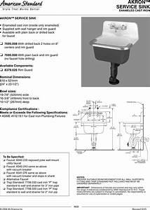 American Standard Akron Service Sink 7695 000 Users Manual