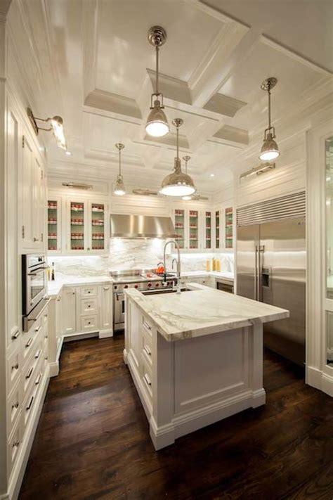 island countertop overhang transitional kitchen