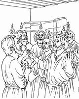 Pentecost Coloring Pages Site sketch template