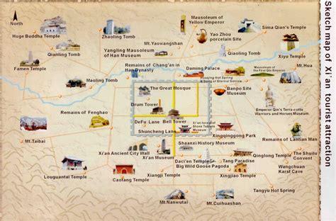 xian map xian travel guide  hotels tourist attraction