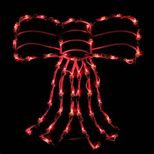 Northlight, 18, U0026quot, Lighted, Red, Bow, Christmas, Window, Silhouette, Decoration