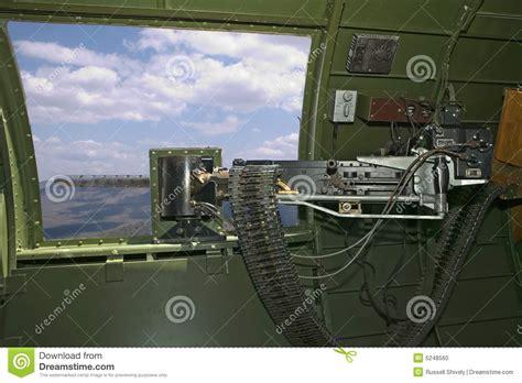 .50 Cal. B-17 Waist Machine Gun Stock Photo - Image of