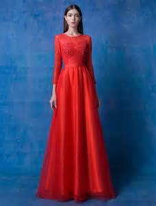 robe de mariã e avec manche dentelle robes étonnantes robe de soiree manche longue 2016