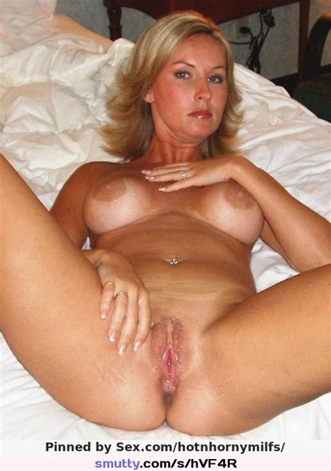 Blonde Milf Pussyspread Mommy Pussy Tits Mature