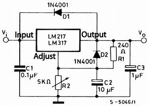 lm317 typical application reference design dc to dc With an adjustable voltage regulator lm317 to design the charging circuit