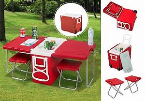 Multi Function Rolling Cooler with Table and 2 Chairs