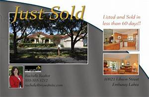 Just sold postcards by printerbees for Real estate just sold flyer templates