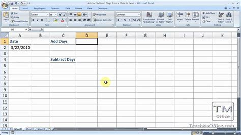 add subtract days date excel youtube
