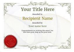 Free Certificate Templates. Simple To Use. Add Printable