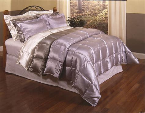 satin down comforter set blue ridge home fashions inc