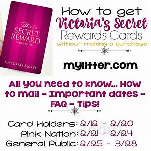 How to get Victoria's Secret Rewards Cards without making ...